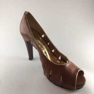 Gainni Bini Saddle Brown Heels